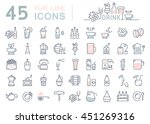 set vector line icons drinks... | Shutterstock .eps vector #451269316