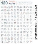 set vector line icons in flat... | Shutterstock .eps vector #451269325