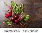 red beetroot with herbage green ... | Shutterstock . vector #451273462