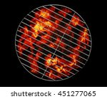 empty grill with ember coal... | Shutterstock . vector #451277065