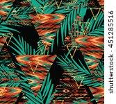 tribal ethnic seamless pattern... | Shutterstock .eps vector #451285516