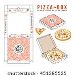 stock vector design of boxes... | Shutterstock .eps vector #451285525