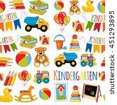kindergarten play and study... | Shutterstock .eps vector #451293895