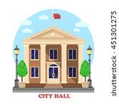city hall architecture facade... | Shutterstock .eps vector #451301275