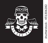 biker theme label with pistons  ... | Shutterstock .eps vector #451306282