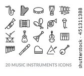 collection of music instruments ... | Shutterstock .eps vector #451311388