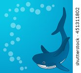 shark. background on the marine ... | Shutterstock .eps vector #451311802