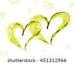 Yellow Hearts Lovely Grunge...