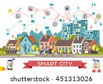 vector city life flat... | Shutterstock .eps vector #451313026