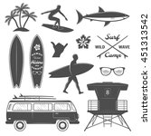 Black Surfing Isolated Icon Se...