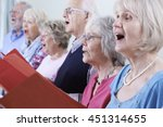 group of seniors singing in... | Shutterstock . vector #451314655