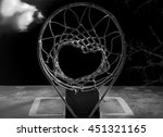 isolated basketball hoop.... | Shutterstock . vector #451321165