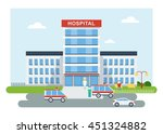 vector hospital building.... | Shutterstock .eps vector #451324882