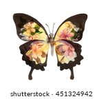 Butterfly With Flowers....