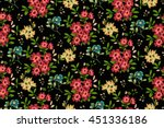 trendy seamless floral pattern... | Shutterstock .eps vector #451336186