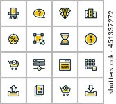 thin line business icon set.... | Shutterstock .eps vector #451337272