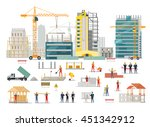 process of construction of... | Shutterstock . vector #451342912