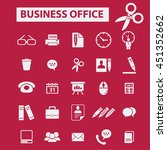 business office icons | Shutterstock .eps vector #451352662
