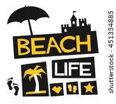 beach life  vector illustration ... | Shutterstock .eps vector #451354885