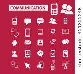 communication icons | Shutterstock .eps vector #451355248