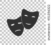 theater icon with happy and sad ... | Shutterstock . vector #451356322