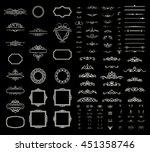 vintage set exclusive borders... | Shutterstock . vector #451358746