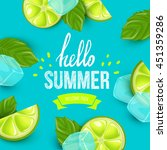 summer colorful poster. vector... | Shutterstock .eps vector #451359286