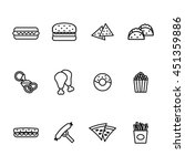 fast food icon set. vector... | Shutterstock .eps vector #451359886