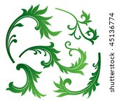 vector set of floral design... | Shutterstock .eps vector #45136774