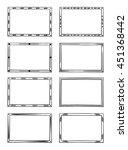 hand drawn simple frames set.... | Shutterstock .eps vector #451368442