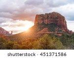 red rocks near sedona  arizona  ... | Shutterstock . vector #451371586