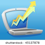 laptop illustration with...   Shutterstock .eps vector #45137878