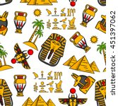 seamless pattern of ancient...
