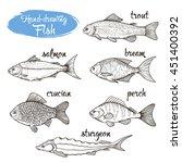 vector set of sketches of... | Shutterstock .eps vector #451400392