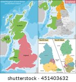map of north east and west... | Shutterstock .eps vector #451403632