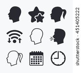 Head Icons. Male And Female...