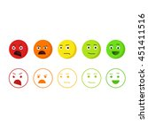 feedback emoticons icons ... | Shutterstock . vector #451411516
