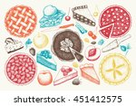vector collection of ink hand... | Shutterstock .eps vector #451412575