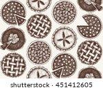 vector background with ink hand ... | Shutterstock .eps vector #451412605