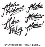 aloha friday set vector... | Shutterstock .eps vector #451416562