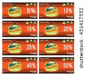 discount coupons for promoting... | Shutterstock .eps vector #451417552