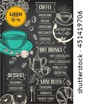 coffee restaurant brochure... | Shutterstock .eps vector #451419706