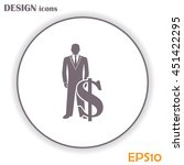 businessman icon with dollar... | Shutterstock .eps vector #451422295