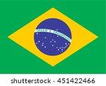 brazil flag vector. brasil... | Shutterstock .eps vector #451422466