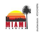 miami city concept. logo  label ... | Shutterstock .eps vector #451424896