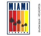 miami city concept. logo  label ...   Shutterstock .eps vector #451424926