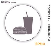fast food icon | Shutterstock .eps vector #451426072