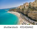high view of tropea town and... | Shutterstock . vector #451426462