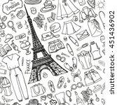 fashion illustration summer... | Shutterstock .eps vector #451436902