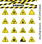 signs warning of the danger... | Shutterstock .eps vector #451441666